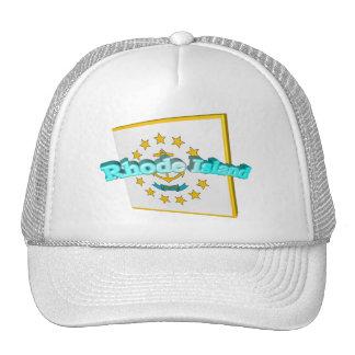 3D Rhode Island State Flag Trucker Hat