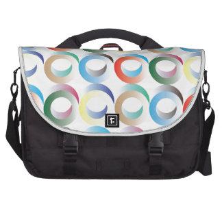 3D Ring Pattern Laptop Messenger Bag
