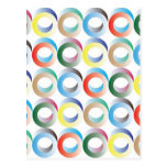 3D Ring Pattern Postcard