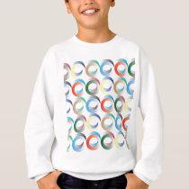 3D Ring Pattern Sweatshirt