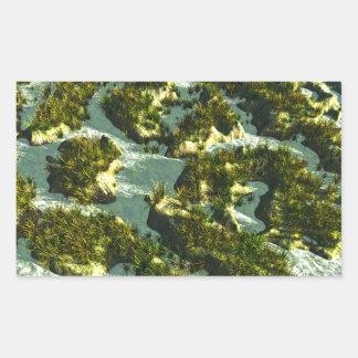 3d river rectangular sticker