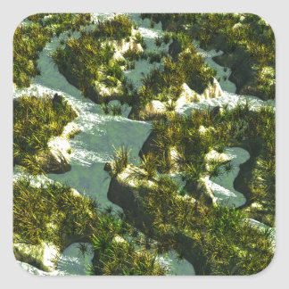3d river square sticker