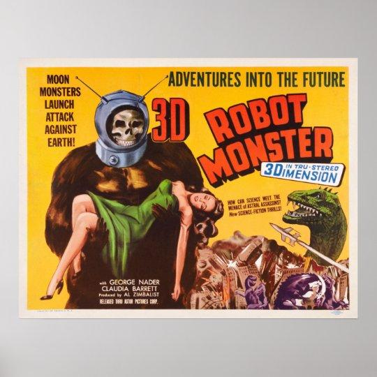 3D ROBOT MONSTER FILM POSTER