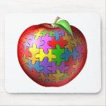 3D rompecabezas Apple Tapetes De Raton