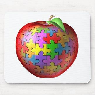 3D rompecabezas Apple Tapetes De Ratones