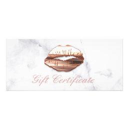 3D Rose Gold Lips Beauty Salon Gift Certificate