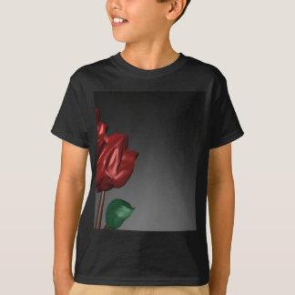 3D Roses Romantic Art Image T-Shirt