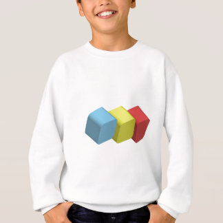 3d rounded cube sweatshirt