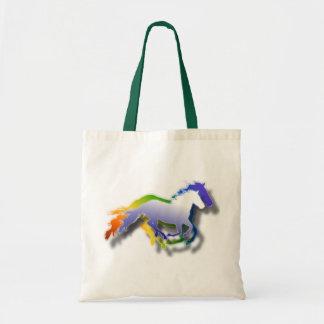 3D Running Horses Budget Tote Bag