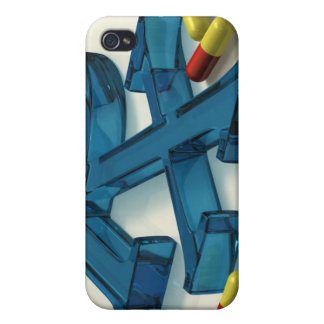 3D RX symbol with capsules Cover For iPhone 4