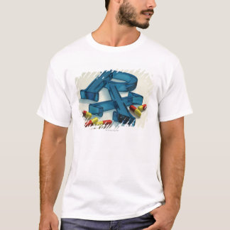 3D RX symbol with capsules T-Shirt