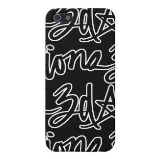3d Script Tile Black iPhone SE/5/5s Cover