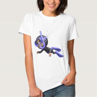 3d Scuba Diver Swimming (Any Color U Like!) T-shirt