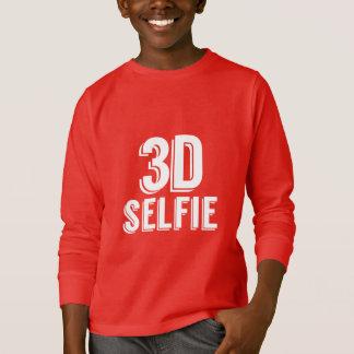 3D Selfie - White Base T-Shirt