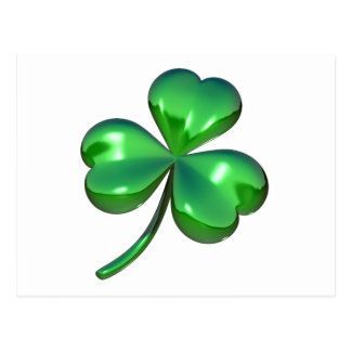 3d shamrock design postcard