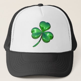 3d shamrock design trucker hat