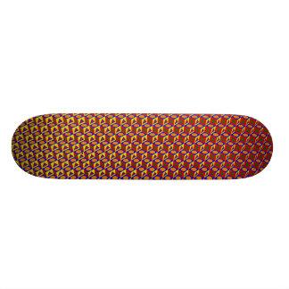3D Shapes Pattern Skateboard Deck