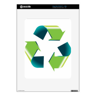3D Shiny Recycling Symbol Decal For The iPad