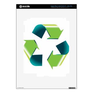 3D Shiny Recycling Symbol iPad 3 Skin