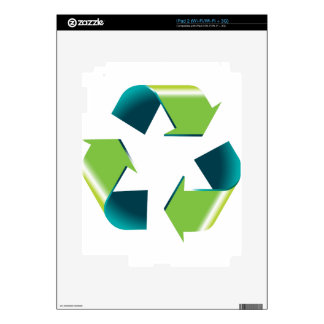 3D Shiny Recycling Symbol Skin For The iPad 2