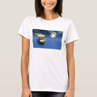 3d ship with moon shirt