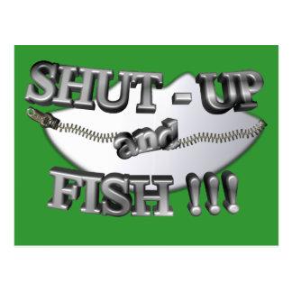 3D Shut-Up and Fish Postcard