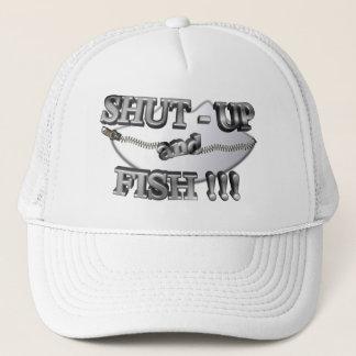 3D Shut-Up and Fish Trucker Hat