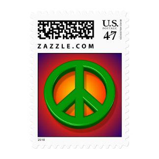 3D signo de la paz - franqueo Sellos