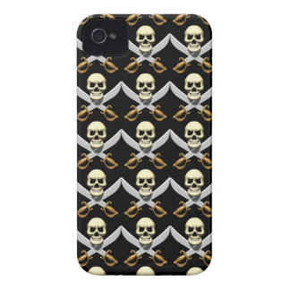 3D Skull and Crossed Swords iPhone 4 Case