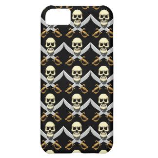 3D Skull and Crossed Swords iPhone 5C Cases