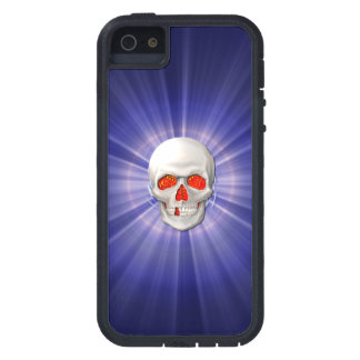 3D Skull - Angel of Death with Blue Halo iPhone SE/5/5s Case