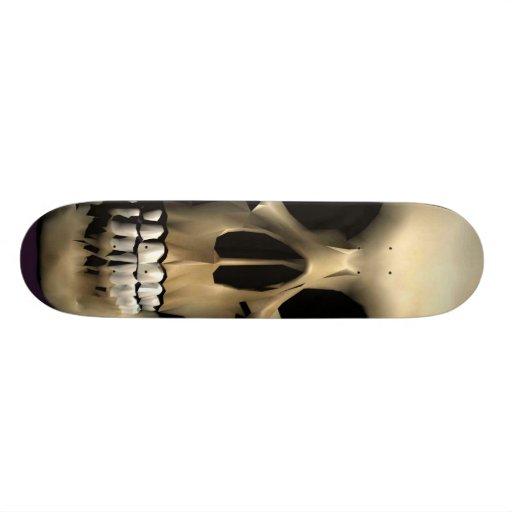 3D Skull skateboard