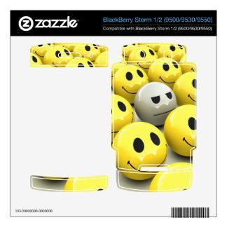 3d Smiley army (editable) BlackBerry Storm Skin