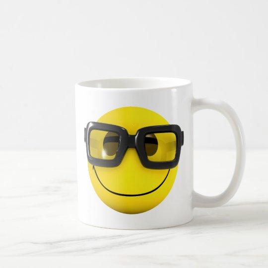 3d Smiley Nerd Geek Coffee Mug