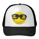3d Smiley Nerd Geek Hats