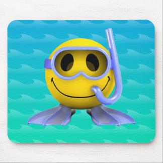 3d Smiley Scuba diver Mouse Pad