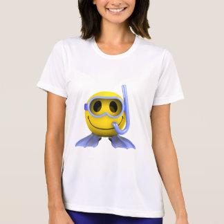 3d Smiley Scuba diver T-Shirt