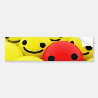 3D Smileys Car Bumper Sticker