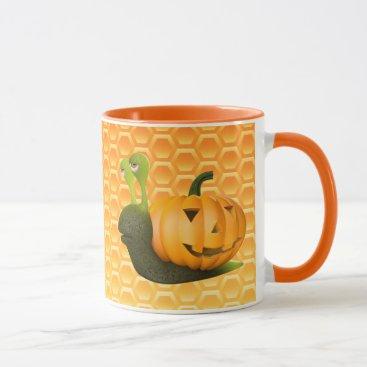 Halloween Themed 3d Snail Halloween Pumpkin Shell Mug