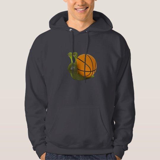 3d snail loves basketball hoodie