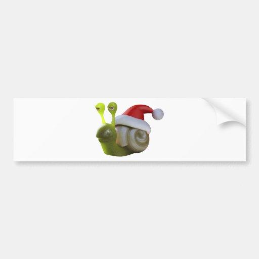 3d Snail Santa Bumper Stickers