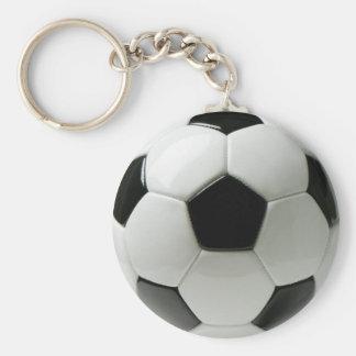 3D Soccer ball Basic Button Keychain