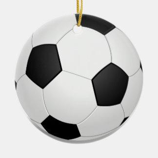 3D Soccer Ball Ceramic Ornament