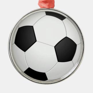 3D Soccer Ball Metal Ornament
