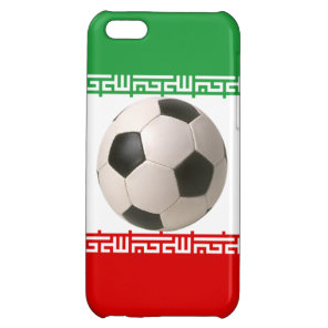 3D soccer ball on red, green and white Iranian fla iPhone 5C Case