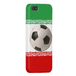 3D soccer ball on red, green and white Iranian fla iPhone SE/5/5s Cover