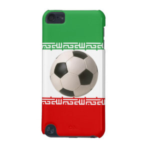 3D soccer ball on red, green and white Iranian fla iPod Touch 5G Cover