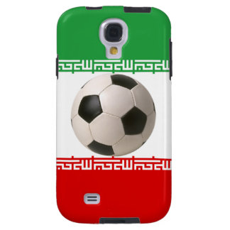 3D soccer ball red green and white Iranian flag Galaxy S4 Case