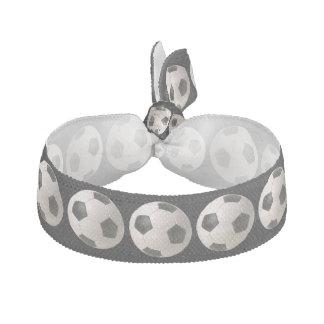 3D soccer ball Ribbon Hair Ties