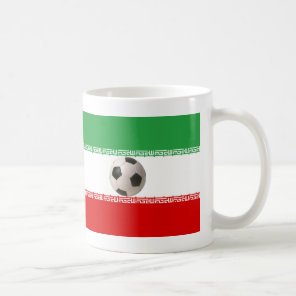 3D soccer ball with Iranian flag Coffee Mug
